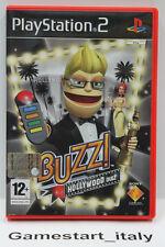 BUZZ!: HOLLYWOOD QUIZ (PS2) PLAYSTATION 2 - VIDEOGIOCO USATO FUNZIONANTE - PAL
