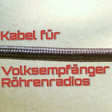 Kabel Leitung NEU braun Gewebe Vintage Volksempfänger Röhrenradio VE301 DKE38