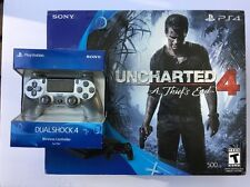 Sony PlayStation 4 Slim 500GB Uncharted 4 Console Bundle *W/ Extra Controller*