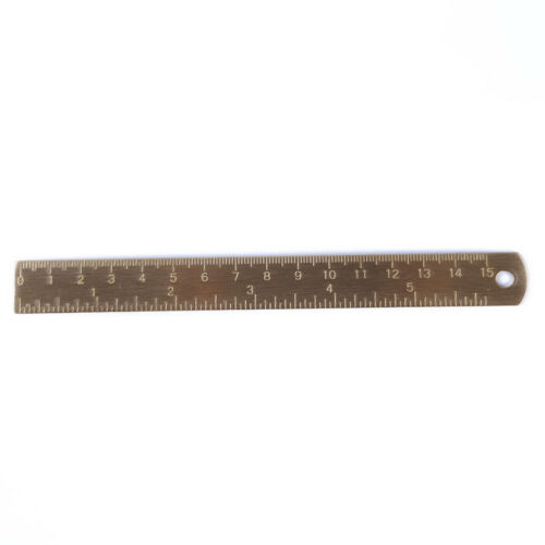 Ruler Brass Metal Scale Measuring Metric Tool Office Double Metal Angle Math MP