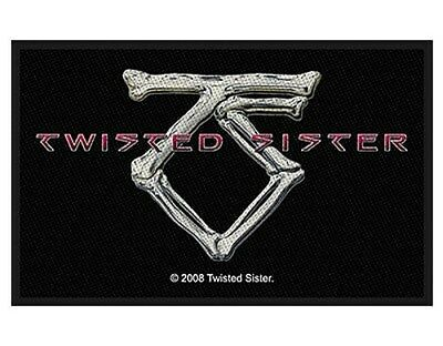 TWISTED SISTER ts bone logo 2007 - WOVEN SEW ON PATCH official merchandise