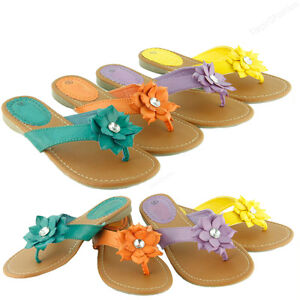 NEW Girls Kids Summer Comfort Casual Thong Flat Flip Flops Sandals Slipper