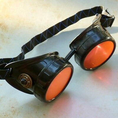 red Steampunk goggles Victorian glasses novelty costume welding lens goth GGG