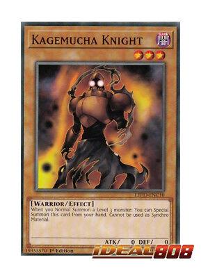 YuGiOh NEW 3 x KAGEMUCHA KNIGHT COMMON 1ST EDITION LEHD-ENC10