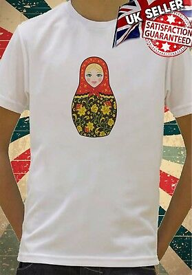 Traditional Russian Babushka Doll Boys Girls Birthday gift Top T shirt 379