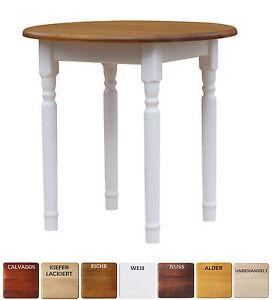 Runder Kiefer Tisch Esstisch Holz Küchentisch massiv weiß honig ...