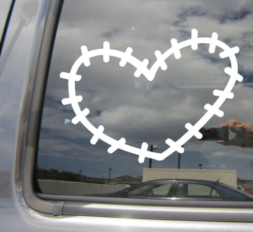 Broken Heal Mended Fixed Car Window Vinyl Decal Sticker 10577 Stitched Heart