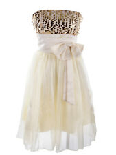 c49bef5ee26 item 1 Womens Yellow Gold Sequin High Waisted Bow Strapless Tube Top Dress  -Womens Yellow Gold Sequin High Waisted Bow Strapless Tube Top Dress