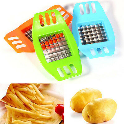 Stainless Steel Potatoes Cutter Cut into Strips French Fries Kitchen Gadgets Hot