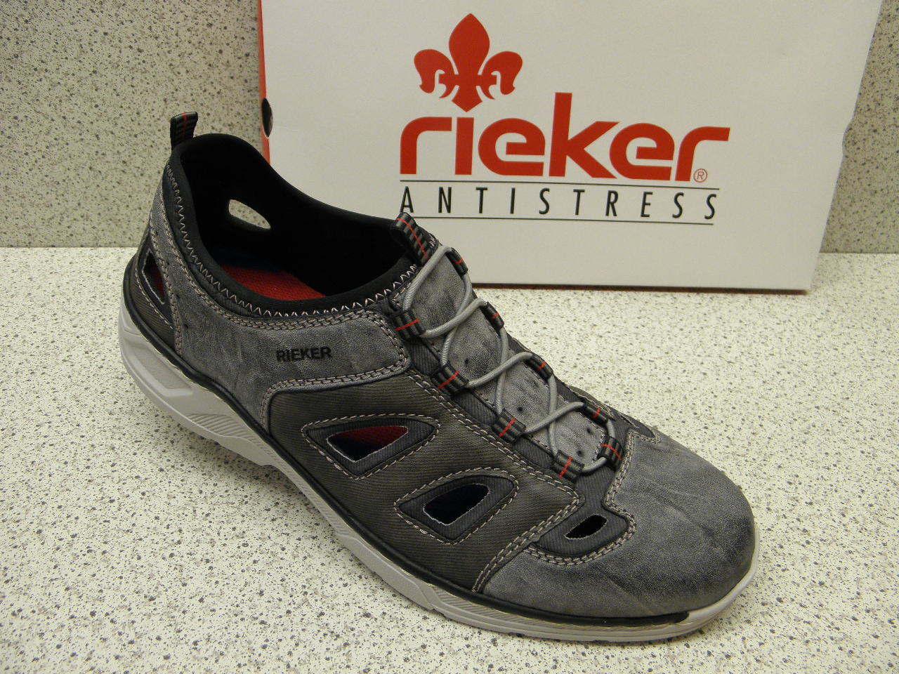 rieker® reduziert   sportlich grau  17255-45 (R458)