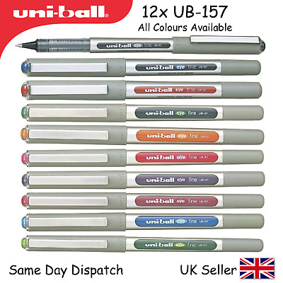 UNI BALL EYE FINE ROLLERBALL 0.7mm PEN UB157 MADE IN JAPAN black or blue or red