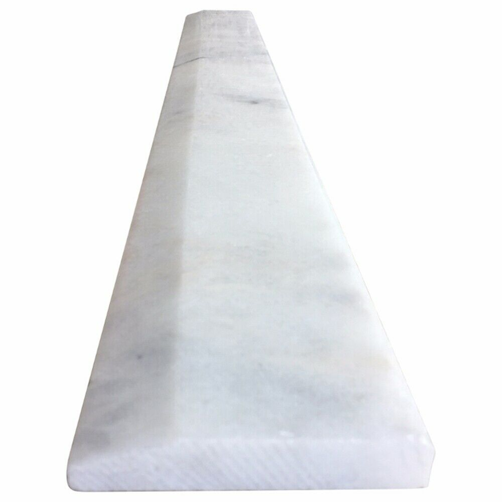 4 x 24 Hollywood Saddle Threshold White Marble Stone or Shower Curb