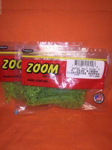 "#017-009 Chartreuse Pepper ZOOM 4/"" Dead Ringer 2PKS 20cnt"