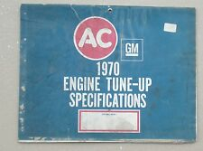 AC 1970 Engine Tune-up Specifications booklet