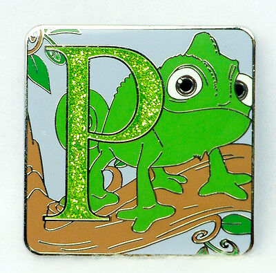 Disney Pin 2015 Mystery Collection ALPHABET Letter P PASCAL CHASER LE Tangled