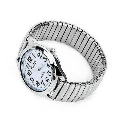 Round Fashion Elegance Chain Bracelet Quartz Ladies Wrist Watch Women Silver