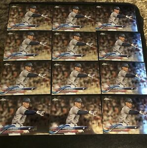 Lot-Of-25-New-York-Yankees-Baseball-Cards-Aaron-Judge-2018-Topps-Chrome-HMT70