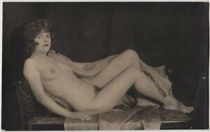 Original-vintage-1920s-attractive-reclining-nude-artistic