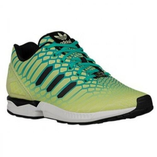 low priced 96dc4 a0daf Adidas ZX Flux Xeno Mens AQ8212 Frozen Yellow Mint Black Running Shoes Size  8