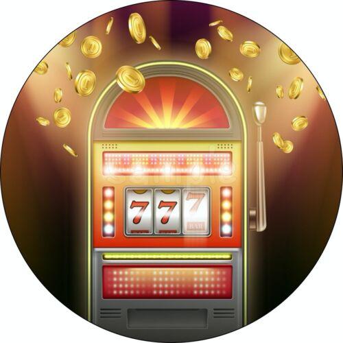 Casino Poker Spiel-automat Party Eßbar Tortenaufleger Deko Bild Geburtstag Neu