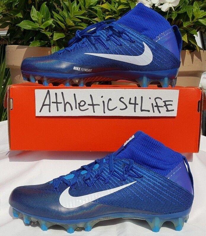 41baac993 NIKE VAPOR VAPOR VAPOR UNTOUCHABLE 2 FOOTBALL CLEATS SIZE 11 blueeE WHITE  824470-414 198b0d