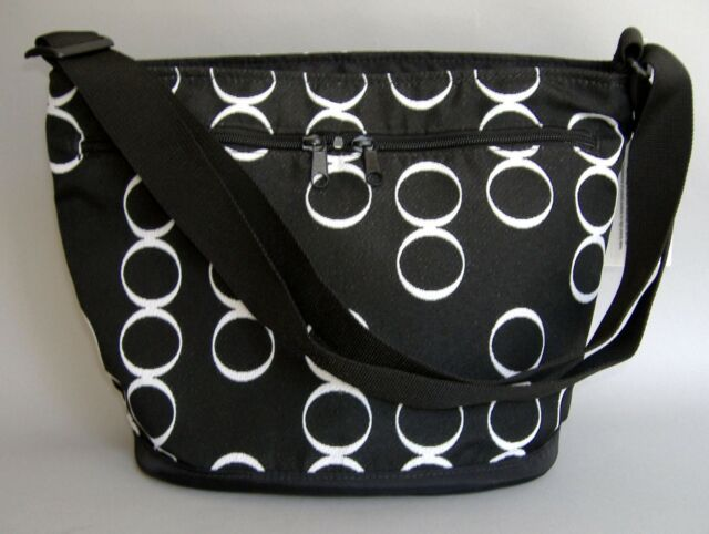 Black White Infinity Hand Made Shoulder Bag Messenger Bucket Purse New Gift
