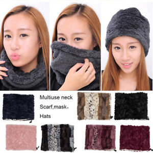 Men-Women-Fleece-Neck-Warmer-Snood-Scarf-Ski-Motorbike-Mask-Hat-Caps-Headband