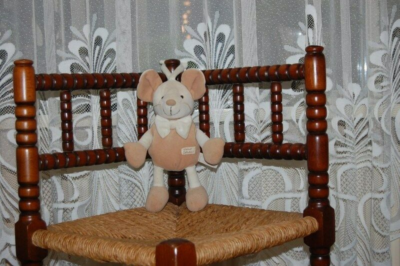 Tiamo Holland Baby Safe Mouse Toy Beige Squeaker Rattles 9.8 inch