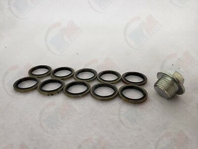 10 Metal-Rubber Gasket Set MR61 fits 2010-2016 Subaru BRZ FR-S Oil Drain Plug