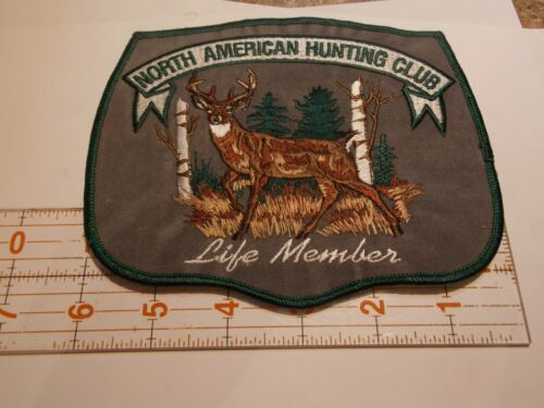 NEW VINTAGE North American Hunting Club Life Member Patch Excellent Stiching