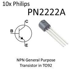 10x NPN Transistor PN2222A = 2N2222A TO92