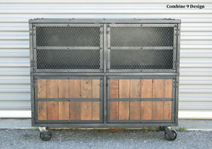 Bar Cart Liquor Cabinet Vintage Industrial Reclaimed