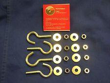 4 Stück gebogene Schraubhaken inkl. Befestigungsmaterial für STEMA Anhänger