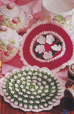 Crochet Pattern ~ RICKRACK & POSY PETALS POTHOLDERS ~ Instructions