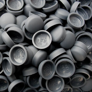 50 x LARGE SLATE BLUETWO PIECE DOME SCREW CAP COVERS SNAP CAPS PRO-DEC FIXINGS
