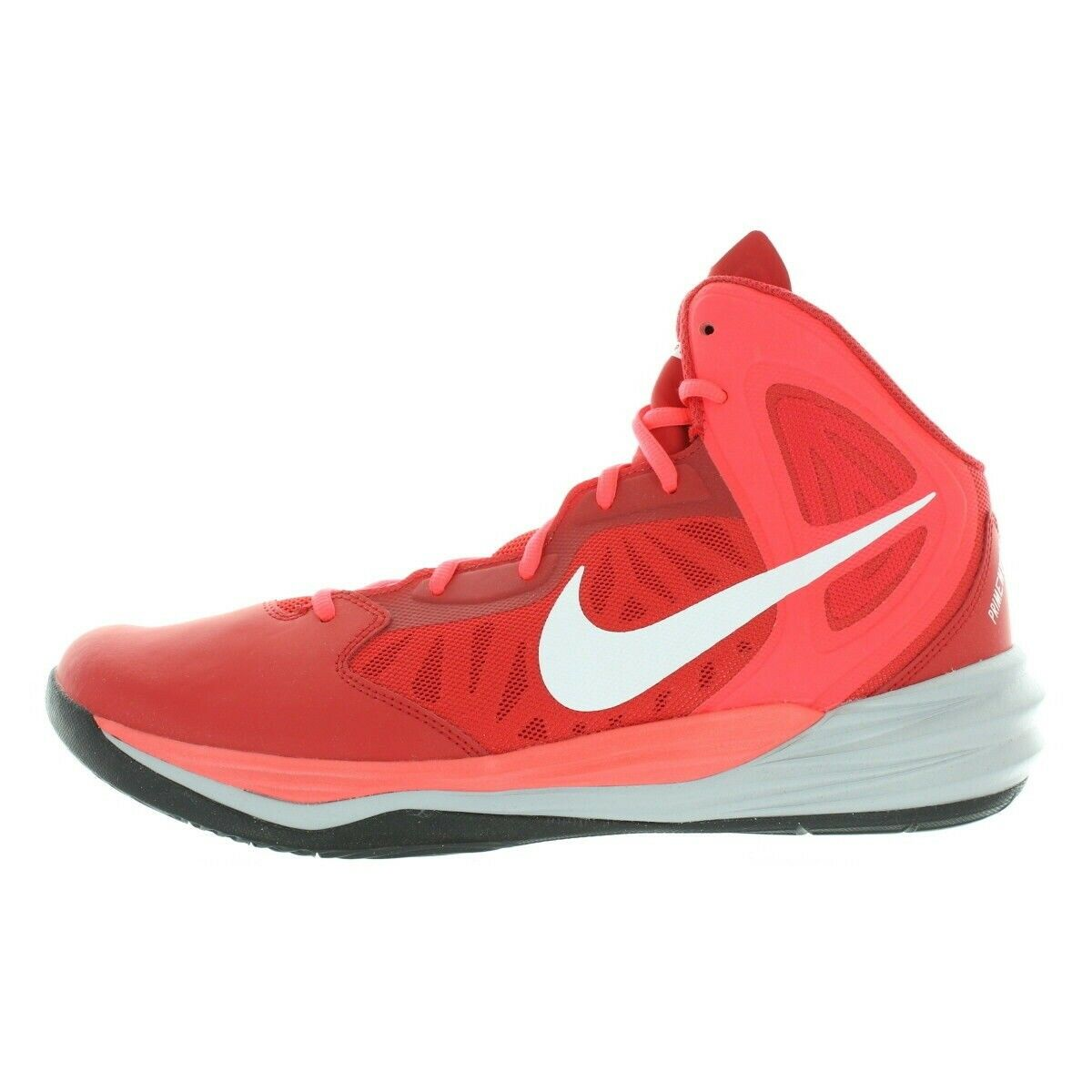 Nike Mens Red White Laser Prime Hype DF Basketball shoes Size 13 Medium (D, M)