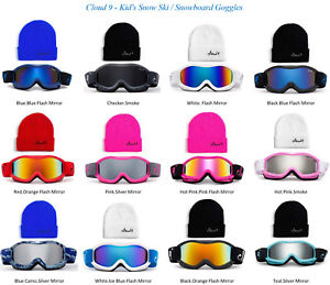 Kids-Snow-Ski-Goggles-Beanie-Combo-Snowboard-Winter-Boys-Girls-Anti-Fog-Lens-New