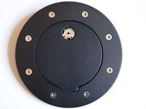 Locking Black Billet Gas Fuel Cap Door Cover With Lock For