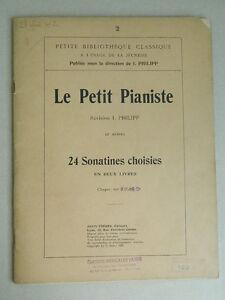 Spartito-Il-Petit-Pianista-24-Sonatine-IN-2-Libri-I-Philipp-Janin