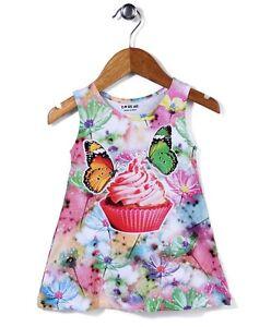 Baby Girls Frock Dress Cute Owl Butterfly Print Cotton Lycra®