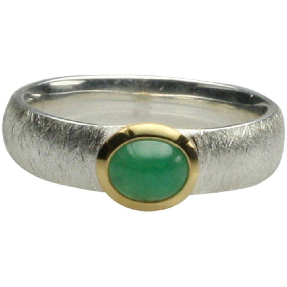 Parte placcato oro 925er argentoo Anello con un elegante smeraldo smeraldo smeraldo 6a8523
