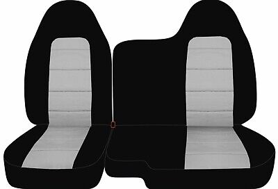 91-03 Ford Ranger 60-40 Black Charcoal Seat Covers //Fishing Pole Logo 10 colors