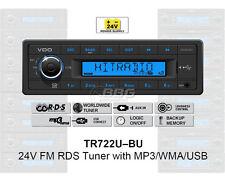 VDO RADIO USB MP3 WMA 24V Boat TR722U-BU