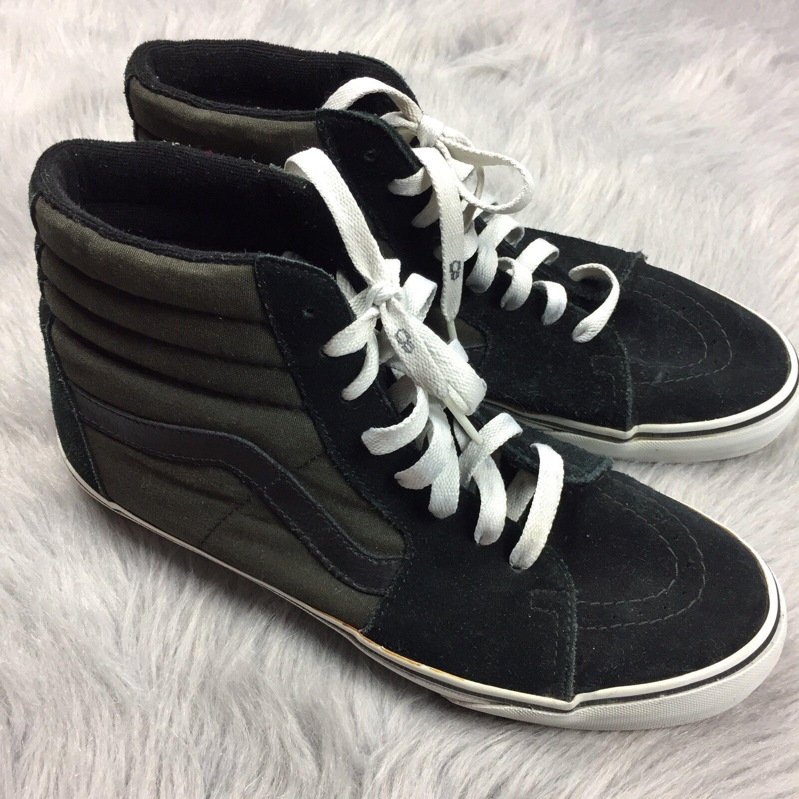 Heavily Worn RARE Rebel 8 Black Gray Vans Sk8 Hi Shoes Sz 10.5