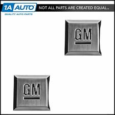 "GMC CHEVY SATURN CADDY OEM GM MARK OF EXCELLENCE EMBLEM BADGE 1.18/"" SQUARE SET"