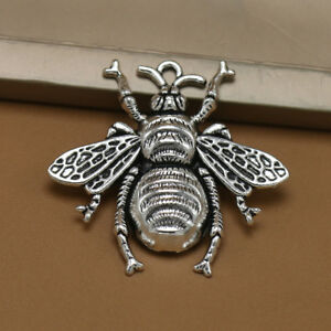 10pcs-Antique-Silver-Bee-Charms-Honeybee-Pendant-Jewelry-Making-Findings