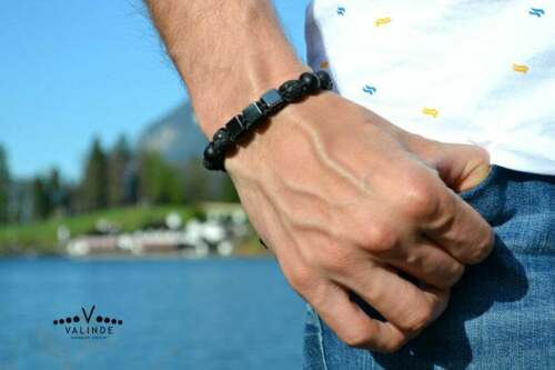 magnetisch!!! Shamballa Herren Armband Männer Armreif Onyx Lava Hämatit