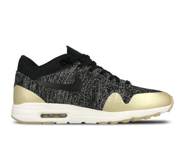 5f7372dcdd7 Nike Wmns Air Max 1 Ultra 2.0 Flyknit Metallic Black 881195-001 Size 4.5 UK