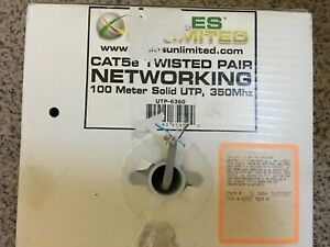 Composite Cable Ethernet Wire 1x RG6U Quad Shield 1x CAT 5E UTP 500/' BL BCC-1947