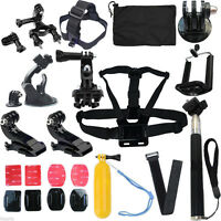 Head Strap Mount Floating Monopod Kit Accessories for GoPro 5 4 3+ SJ9000 Camera